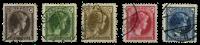 Luxembourg - Grand Duchess Charlotte, 1927 - Cancelled (Mi. 187-191)