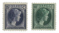 Luxembourg - Grand Duchess Charlotte, 1928 - Cancelled (Mi. 205-206)