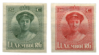 Luxembourg - Phil. Luxembourg Exhibition 1922- Unused (Mi. 140-141)