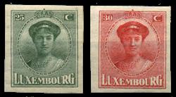 Luxembourg - Phil. Luxembourg Udstilling 1922- Ubrugt (Mi. 140-141)