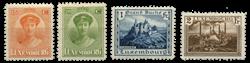 Luxembourg - Landskaber og Charlotte 1925- Ubrugt (Mi. 161-164)