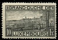 Luxembourg - Landscapes 1923 10Fr. Grey Black - Unused (Mi. 143)