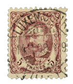 Luxembourg - Duke William, 5 Fr. Purplish red - Cancelled (no. Mi 83)