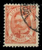 Luxembourg - Duke William 2.5 Fr. Red Orange - Cancelled (Mi. 82)
