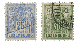 Luxembourg - Michel 52-53 - Stemplet