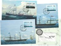 DFDS- Steam boats - Maxi cards