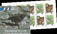 Færø.Standfugle hæfte 1998 AFA 344-345