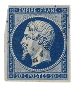 France 1854 - YT 14ab - Cancelled