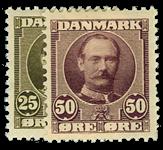 Danmark 1907 - AFA nr.57-58 Ubrugt