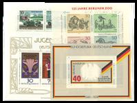 Vesttyskland - 21 postfriske miniark