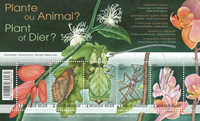 Belgien - Plante eller dyr? - Postfrisk miniark