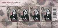 Hungary - Edith Piaf - Mint sheetlet