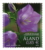 Åland Islands - Bell flowers - Mint stamp