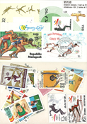 Athletic sports 4 souvenir sheets, 2 sets and 23 stamps
