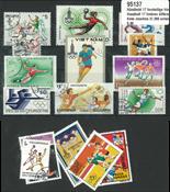 Handball 17 different stamps