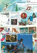 Slalomski 6 miniark og 50 frimærker