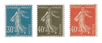 Frankrig 1924 - YT 192/94 - Ubrugt
