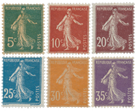 France 1907 - YT 137/42 - Unused