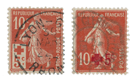 France 1914 - YT 146/47 - Cancelled
