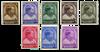 Belgien 1936 - OBP 438-45 - Ubrugt