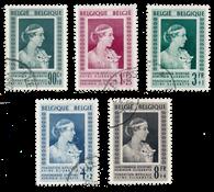 Belgien 1952 - OBP 863/67 - Stemplet