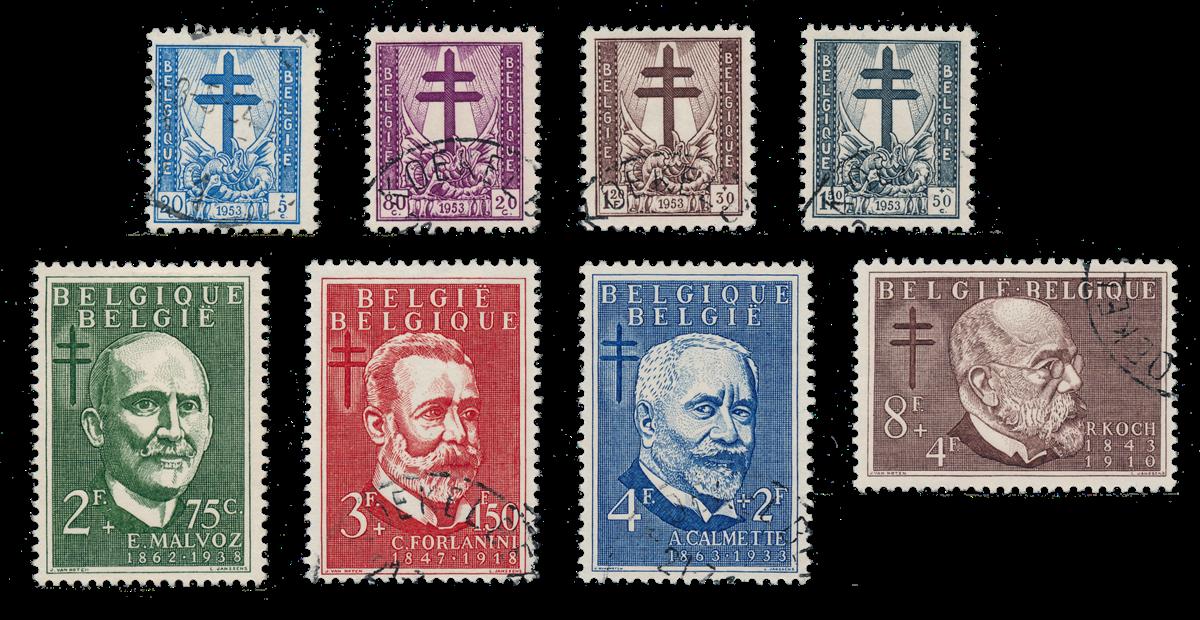 Belgien 1954 - OBP 930/37 - Stemplet