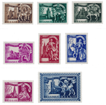 Belgien 1943 - Postfrisk - OBP 631/38