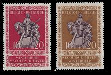 Belgien 1943 - Postfrisk - OBP 613/14
