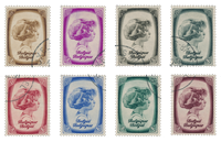 Belgium 1938 - OBP 488/95 - Cancelled