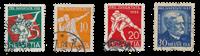 Schweiz 1932 - Michel 262/65 - Stemplet