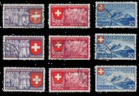Schweiz 1939 - Michel 335/43 - Stemplet