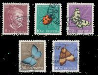 Switzerland 1952 - Michel 575/79 - Cancelled