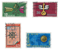 Switzerland 1954 - Michel 593/96 - Cancelled