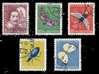 Schweiz 1956 - Michel 632/36 - Stemplet