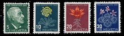 Schweiz 1947 - Michel 488/91 - Postfrisk