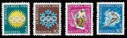 Schweiz 1948 - Michel 492/95 - Postfrisk
