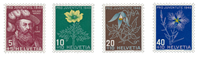 Switzerland 1949 - Michel 541/44 - Mint