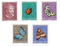 Switzerland 1952 - Michel 575/79 - Mint