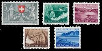 Switzerland 1953 - Michel 580/84 - Mint