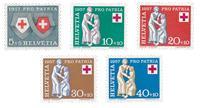 Switzerland 1957 - Michel 641/45 - Mint