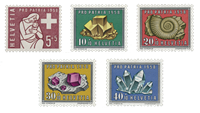 Switzerland 1958 - Michel 657/61 - Mint