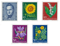 Switzerland 1961 - Michel 742/46 - Mint
