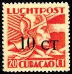 Curacao - Hulpuitgifte 1934 Opdruk 10 ct (LP17, ongebruikt)