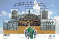 Belgium - Le Grand-Place de Mons - Mint sheetlet