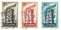 Luxembourg - Europe 1956 - Cancelled (Mi. 555-57)