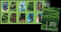 Norfolk Island - Pine trees - Mint set selfadhesive
