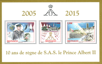 Monaco - Prins Alberts 10 års jubilæum - Postfrisk miniark