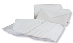 100 luxury glassine envelopes 7,5 x 11,5 cm