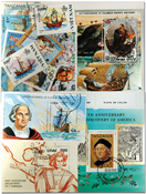 Columbus 5 souvenir sheets, 1 set and 16 stamps
