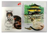 Cats 3 souvenir sheets